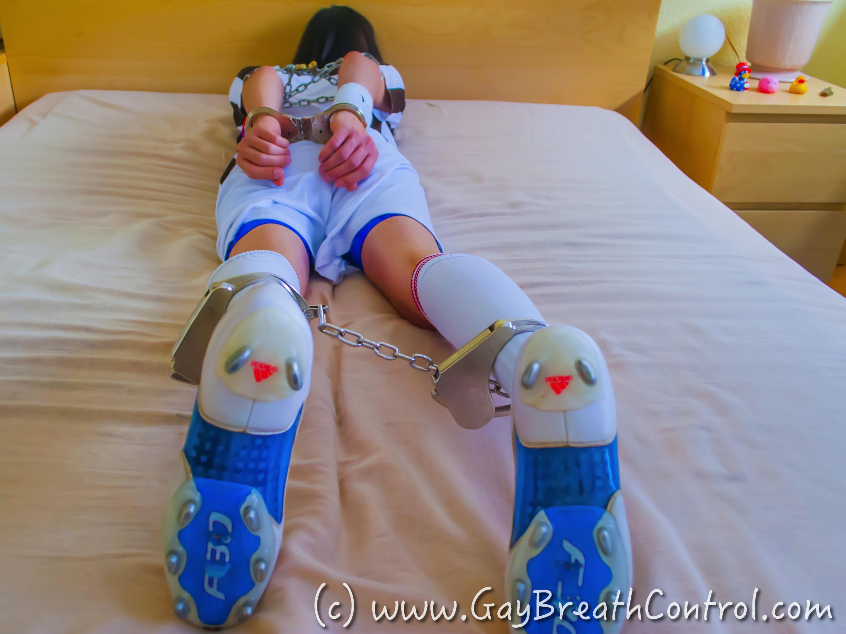 Gay soccer bondage