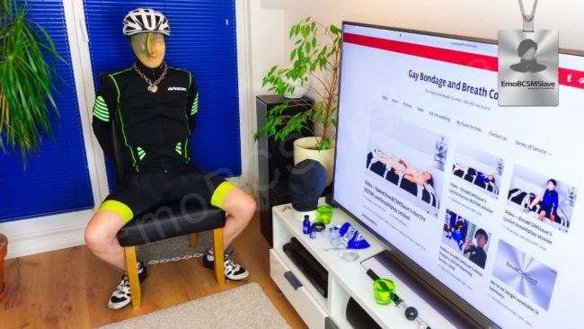 Emo Cyclist Breath Control Session Vaccum Mask Part
